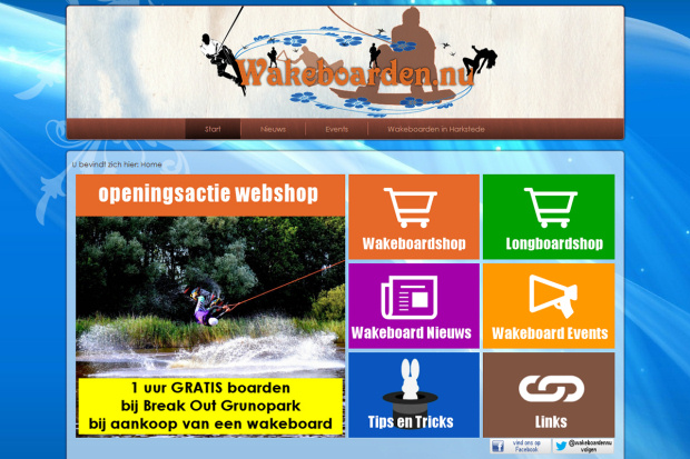 Screenshot wakeboarden.nu