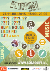 11-07-2015 BoardLife Festival bij SKEEF Cable Ski and More - poster