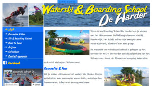 2016-032 Waterski en Boarding School de Harder lanceert haar website