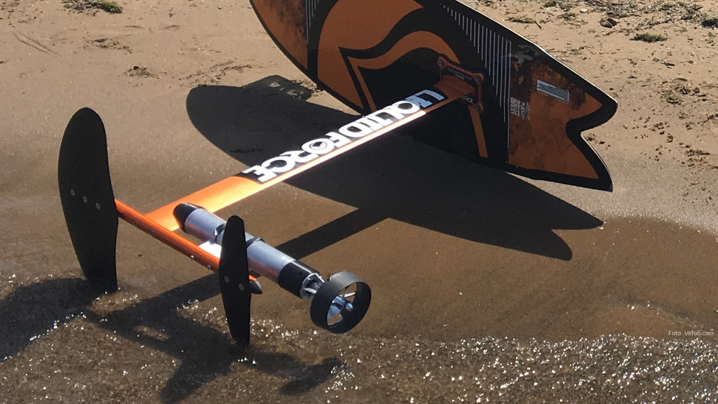 Propelled Hydrofoil Surfboard
